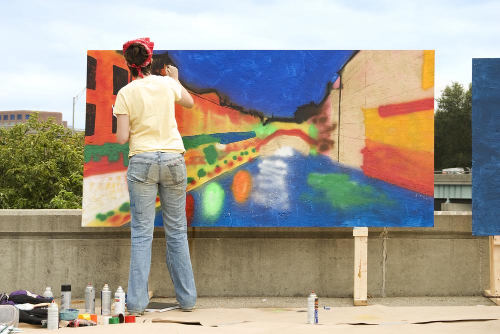 Interactive art displays